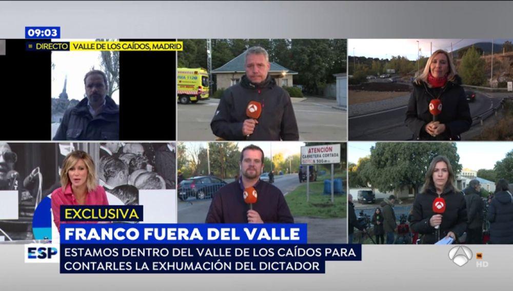 Franco fuera del Valle.