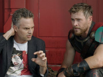 Chris Hermsworth (Thor) y Mark Ruffalo (Hulk) en 'Ragnarok'