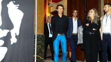 Camilo Blanes, el hijo de Camilo Sesto, en el homenaje a su padre