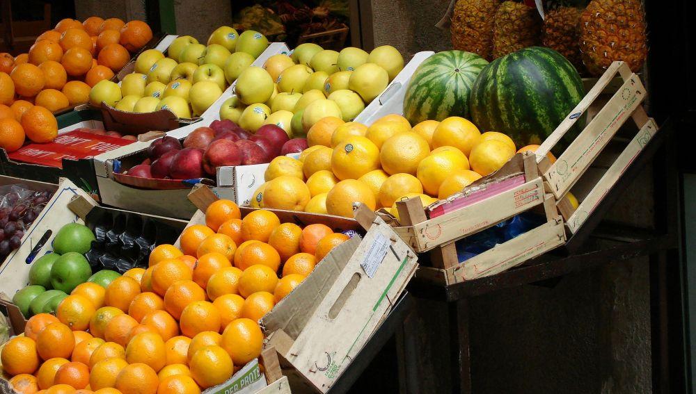 Imagen de archivo de una frutería.