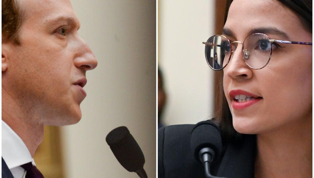 Mark Zuckerberg y Alexandria Ocaso-Cortez