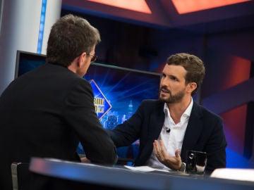 """Pablo Casado en 'El Hormiguero 3.0': """"Torra ha hecho Presidente a Pedro Sánchez"""""""