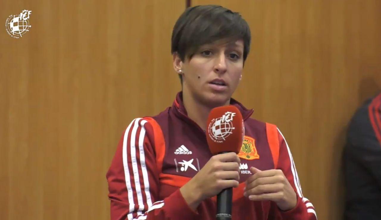 Marta Corredera, durante su intervención en Madrid