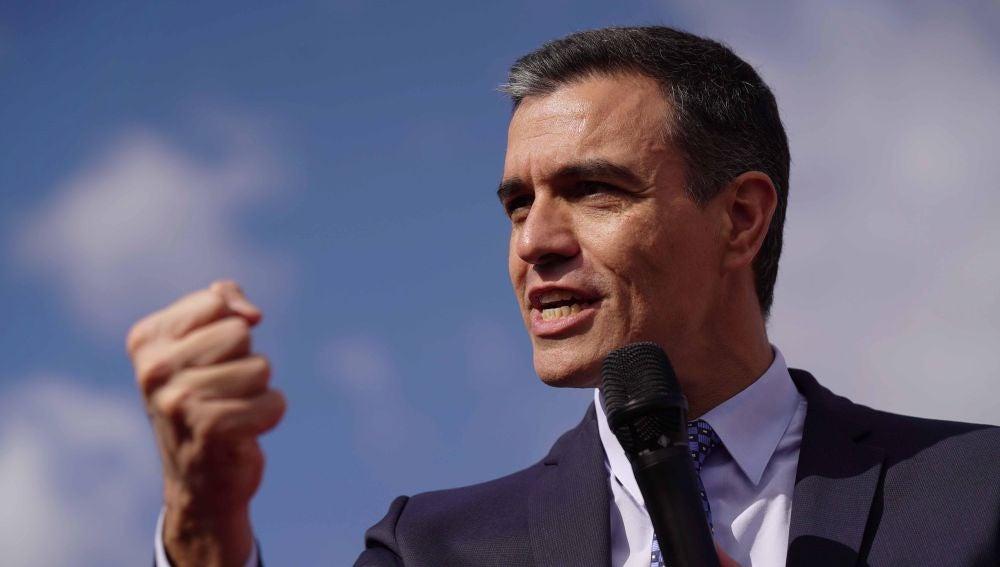 Pedro Sánchez, durante un acto electoral