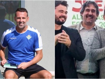 Toni Doblas y la foto con Rufián y Otegi