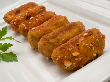 La receta de Croquetas de berenjena y queso de Karlos Arguiñano
