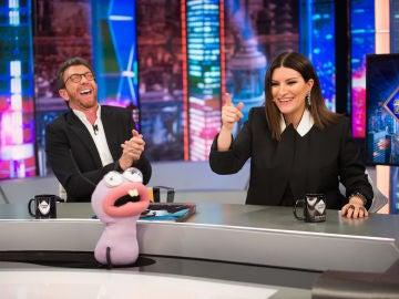 Laura Pausini aprende las expresiones españolas más divertidas en 'El Hormiguero 3.0'