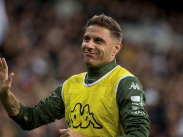 Joaquín, durante un partido con el Betis