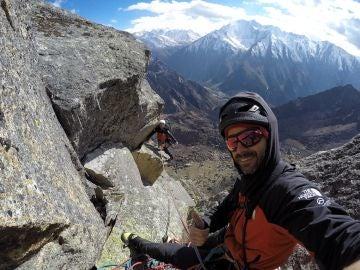 Eneko e Iker durante su expedición al Himalaya