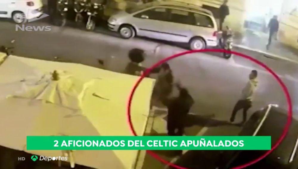 Un grupo de ultras de la Lazio apuñala a dos seguidores del Celtic de Glasgow