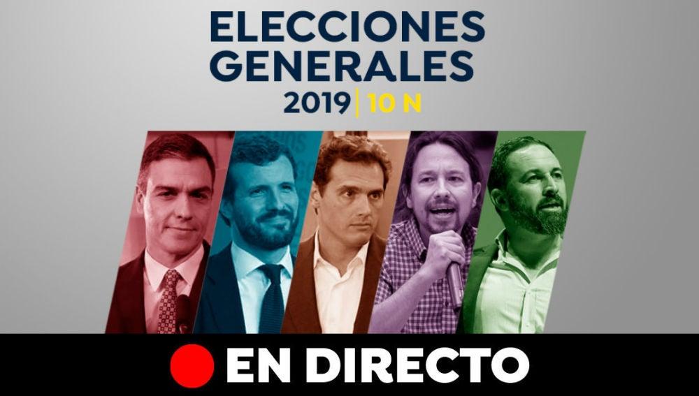 Elecciones generales 2019: Campaña electoral, candidatos y encuestas de las elecciones generales del 10-N, en directo