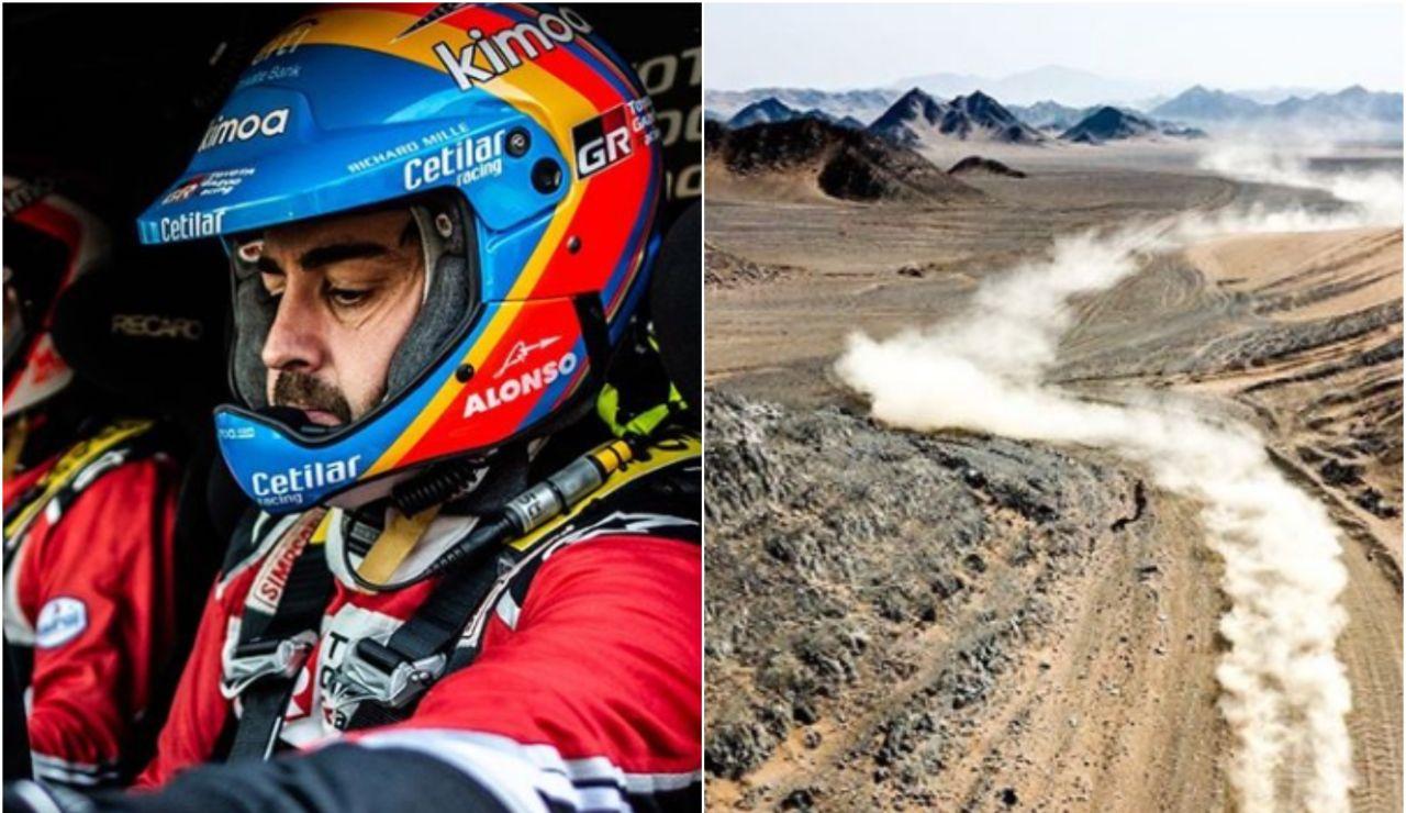 Fernando Alonso compitiendo en el rally Ula Neom