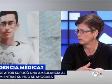 La madre de Aitor, el joven que suplicó una ambulancia