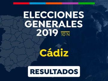 Elecciones generales 2019: Resultado de las elecciones generales en Cádiz el 10-N