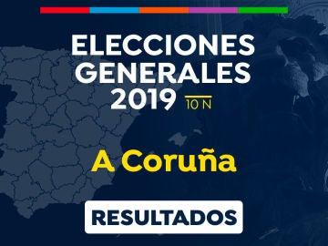 Elecciones generales 2019: Resultado de las elecciones generales en A Coruña el 10-N