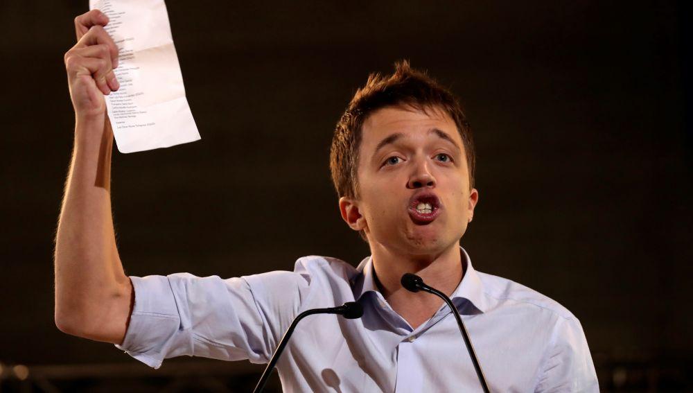 Íñigo Errejón, en el acto de campaña de Más País