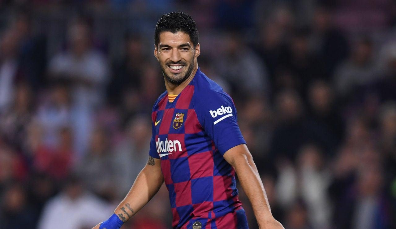 Luis Suárez se recupera de su lesión en el sóleo