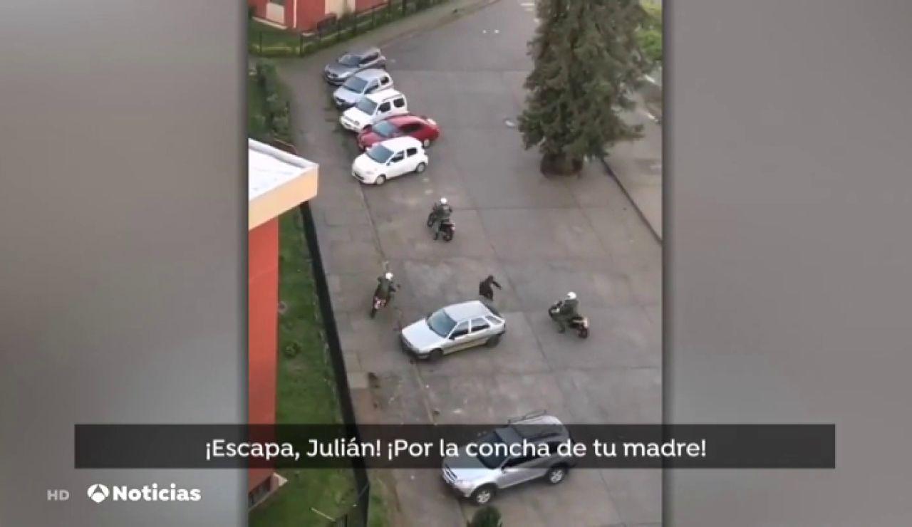 La imagen viral de una persecución en Chile que reaviva las críticas contra el gobierno y los protocolos de la policía