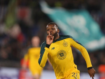 Ntcham celebra el gol