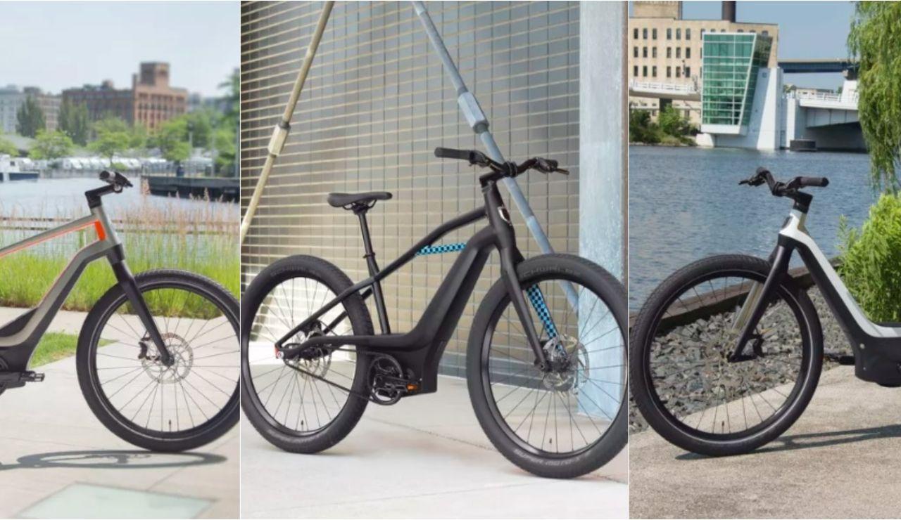 Los tres prototipos de las bicicletas eléctricas de Harley-Davidson