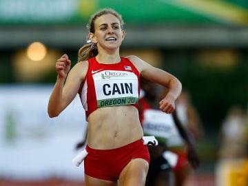 Mary Cain durante una competición