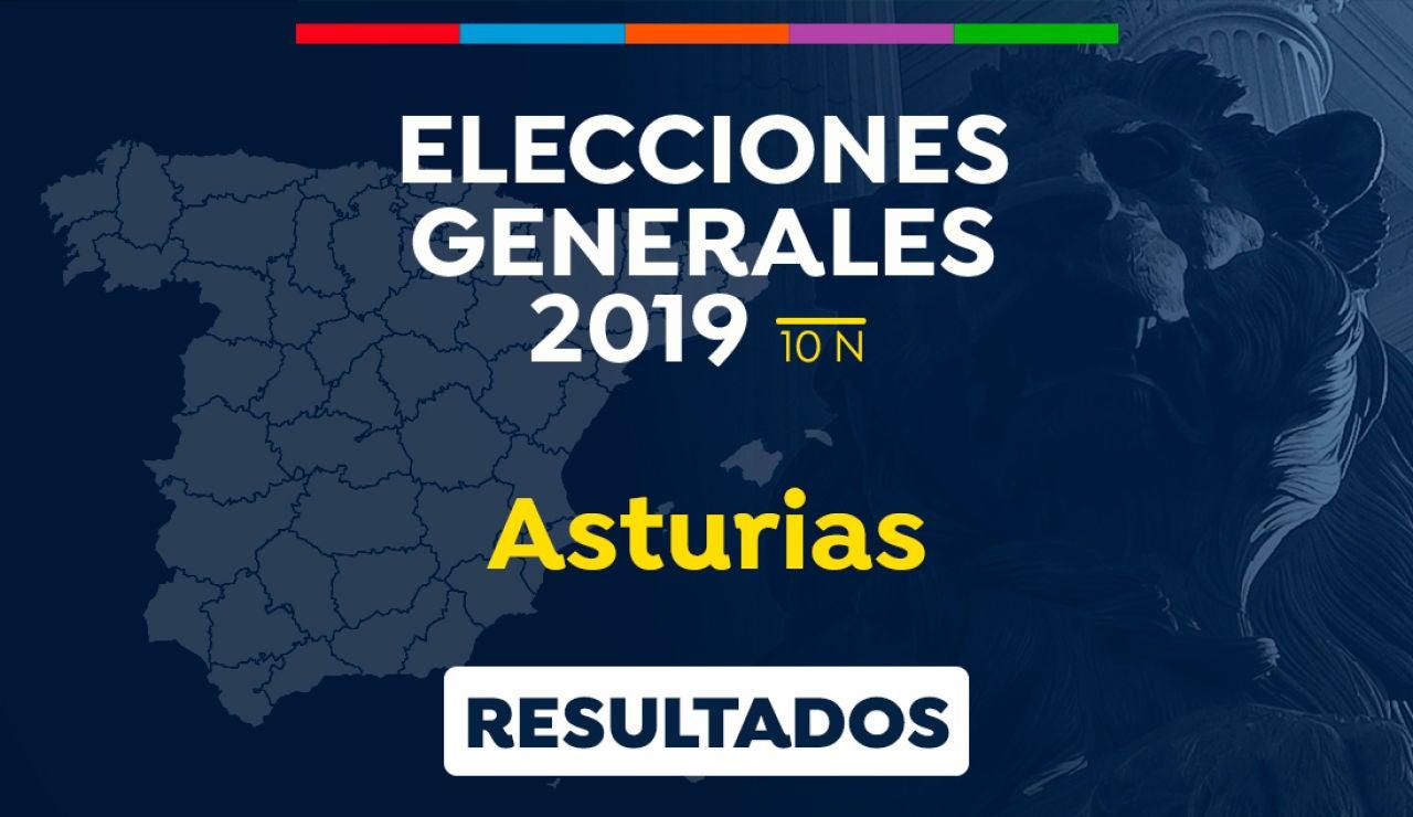 Elecciones generales 2019: Resultado de las elecciones generales en Asturias el 10-N