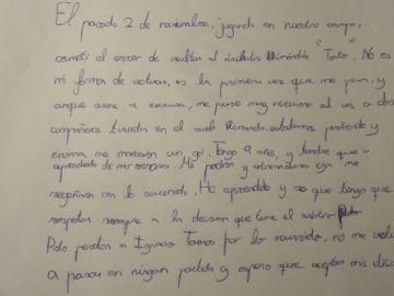 La carta de Sergio al colegio de árbitros