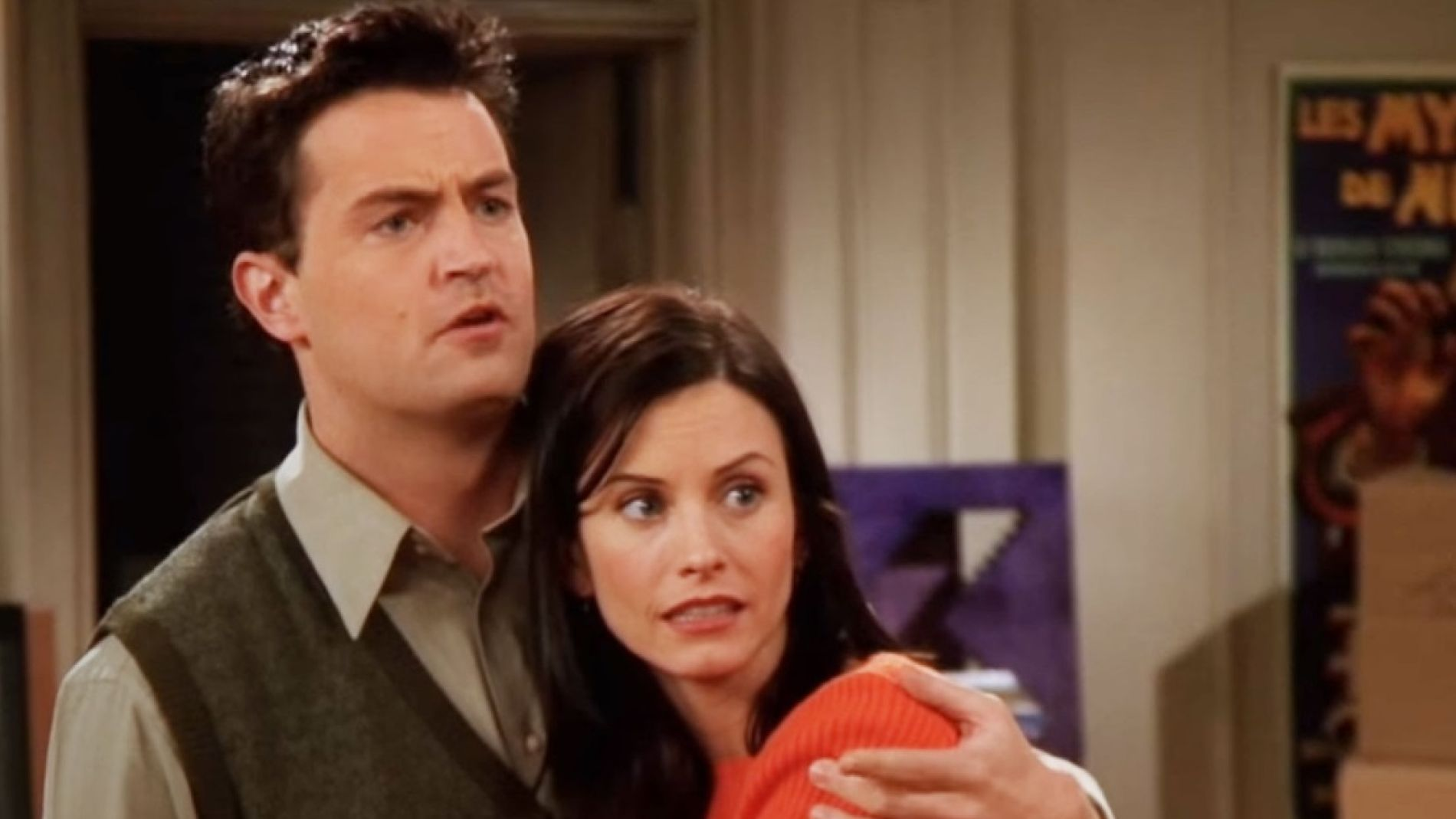 Chandler y Monica en 'Friends'