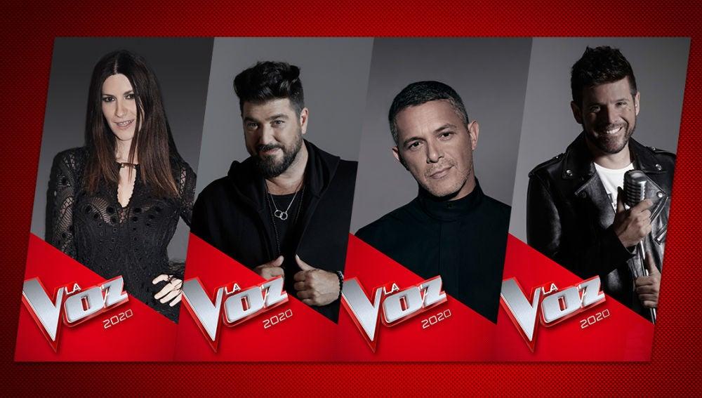 Los coaches de 'La Voz' 2020: Alejandro Sanz, Laura Pausini, Pablo López y Antonio Orozco
