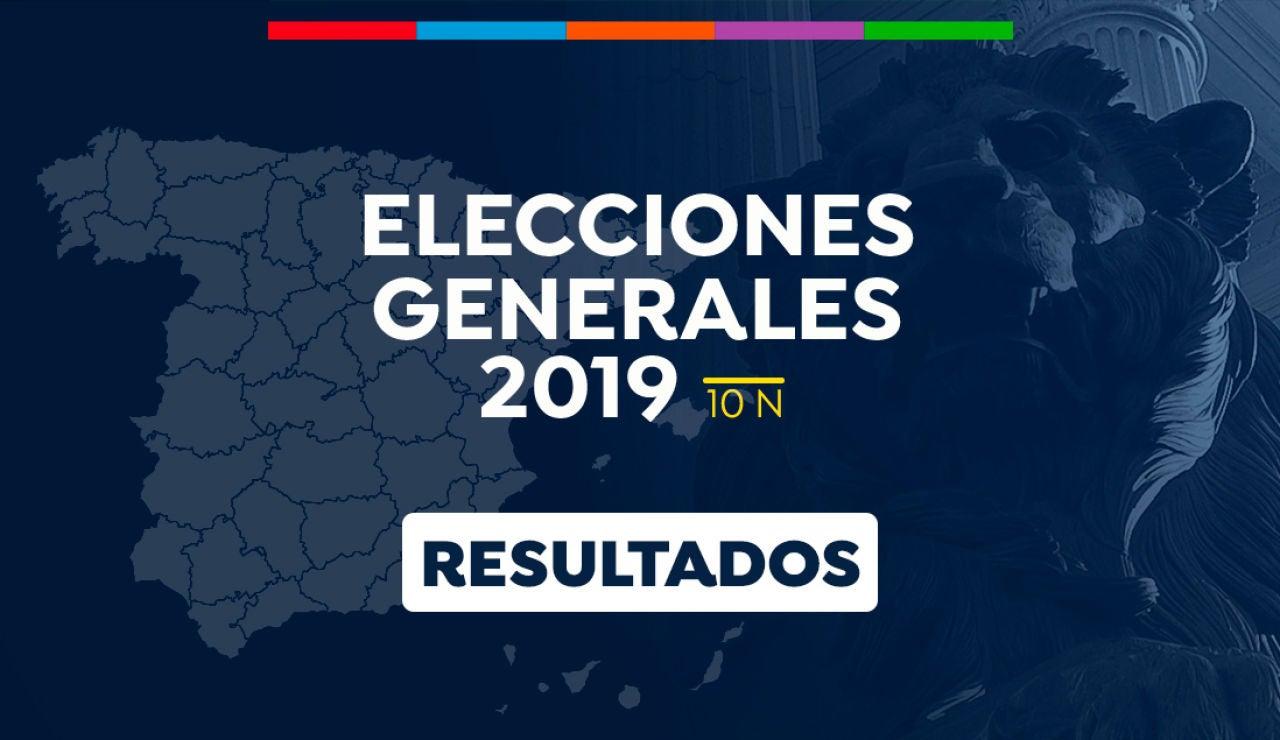 Resultado elecciones generales 2019 10N: Escrutinio y resultado de las Elecciones generales en España