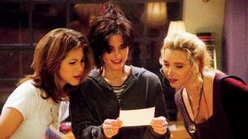 Rachel, Monica y Phoebe en 'Friends'