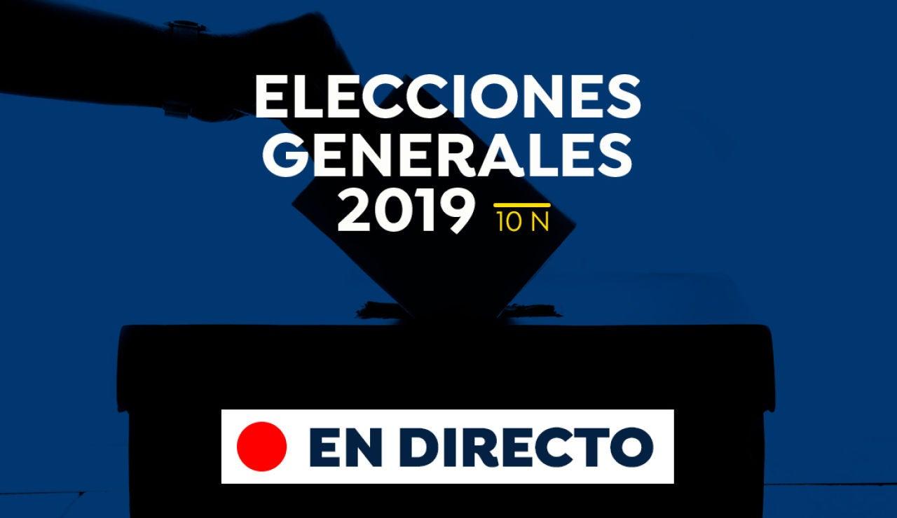 Elecciones generales 2019: Participación, escrutinio y resultado de las elecciones del 10-N, en directo