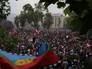 Manifestación en Santiago de Chile
