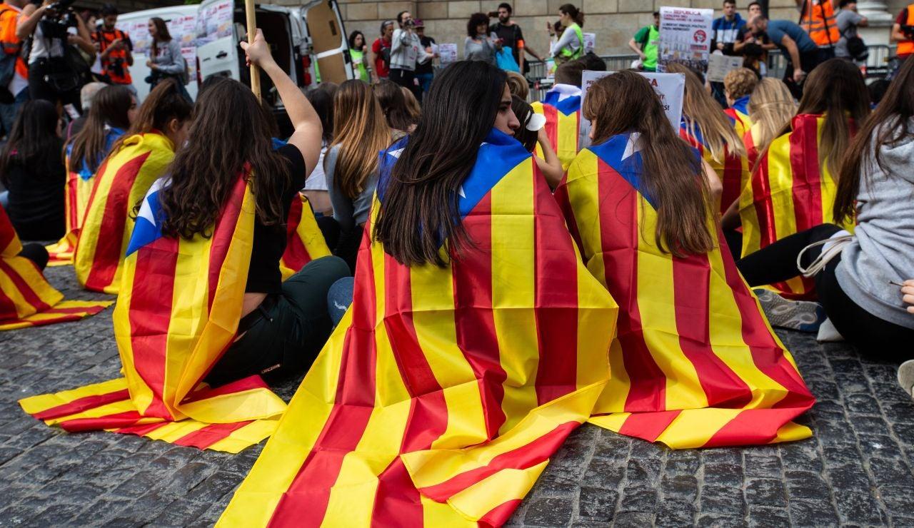 Acampada independentista en Barcelona