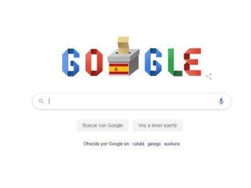 El 'doodle' de Google por las elecciones del 10-N