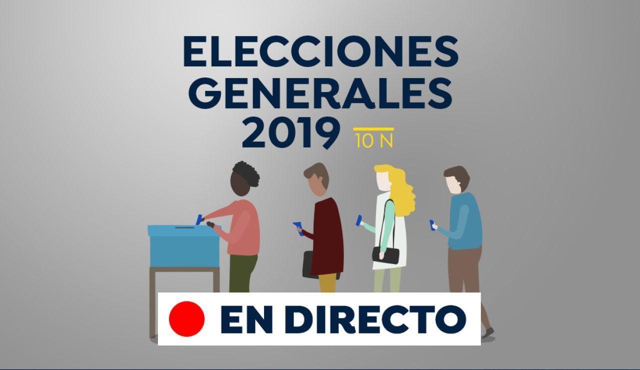 Elecciones generales 2019: Participación, escrutinio y resultado de las elecciones generales en España el 10 de noviembre, en directo