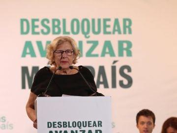 Manuela Carmena en el mitin de Más País
