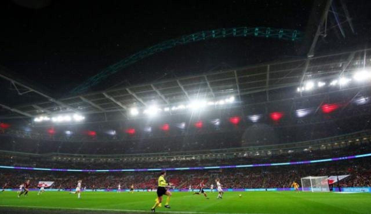 Wembley durante el partido femenino entre Inglaterra y Alemania