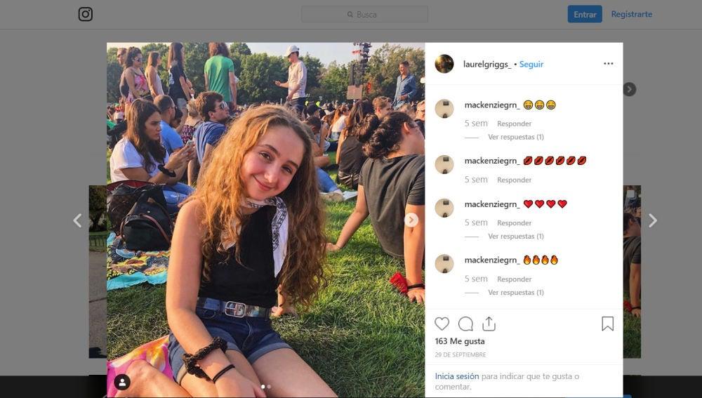Perfil de Instagram de Laurel Griggs