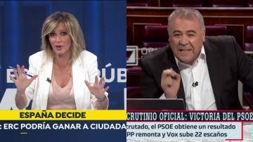 Susanna Griso y Ferreras, volcados en el 10-N