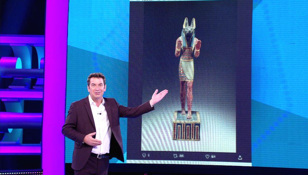 Un descubrimiento histórico: Anubis pidiendo los 5.000 euros de '¡Ahora caigo!'
