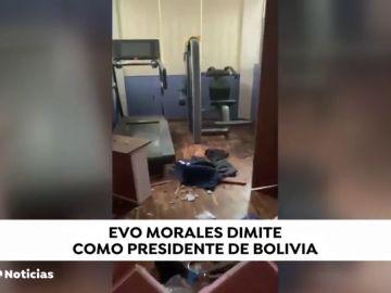 Asaltan la casa de Evo Morales después de que anunciara su dimisión como presidente de Bolivia