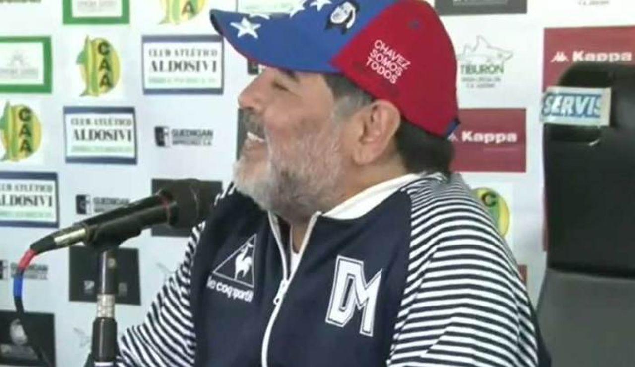 Maradona entrenador de Gimnasia