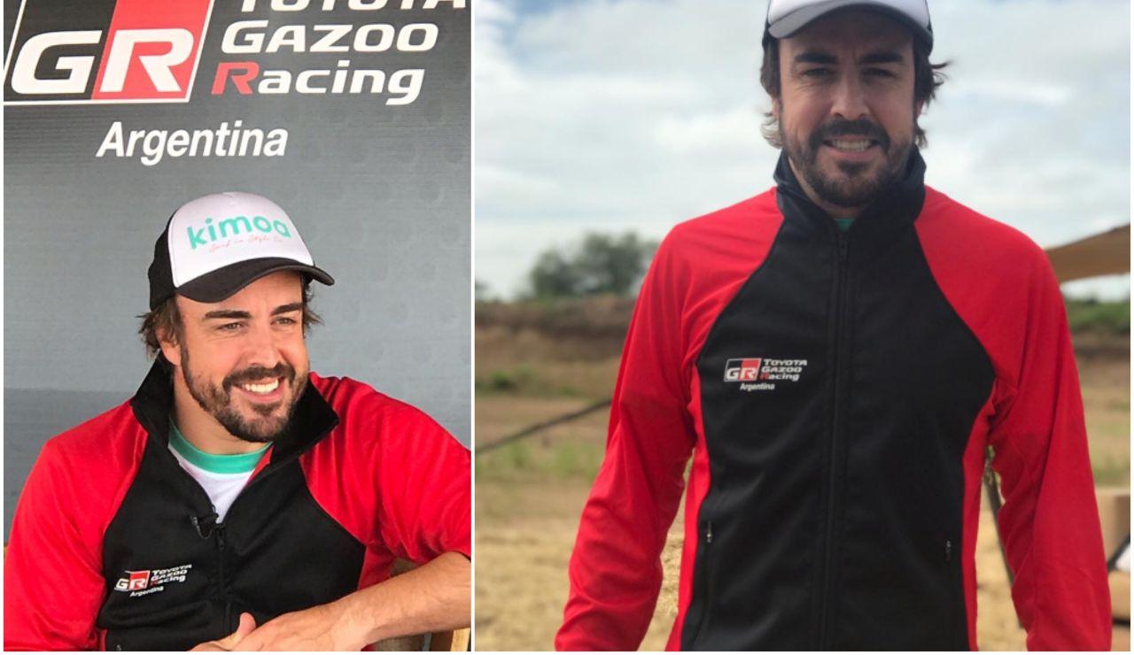 Fernando Alonso en el acto de Toyota en Argentina