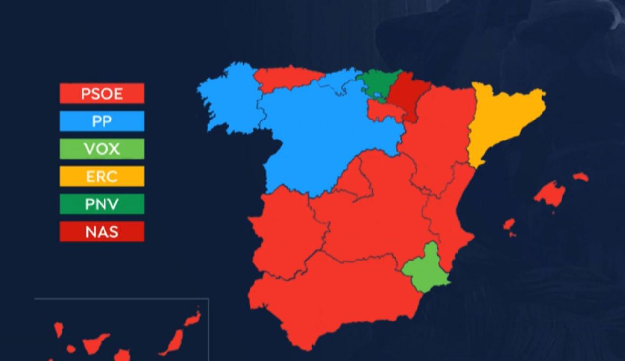 Mapa Region De Murcia Elecciones.Elecciones Generales 2019 El Mapa De Espana Vuelve A