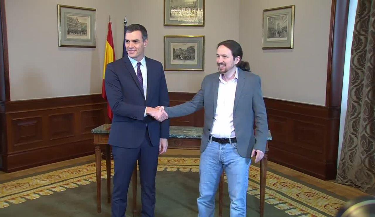 Elecciones generales 2019: Pablo iglesias y Pedro Sánchez firman un preacuerdo