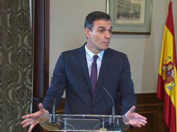 REEMPLAZO La comparecencia completa de Pedro Sánchez y Pablo Iglesias para anunciar el acuerdo PSOE-Unidas Podemos