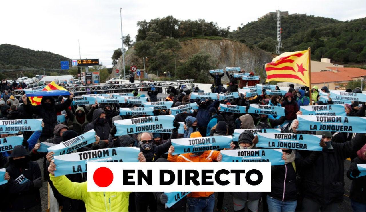La Jonquera cortes de carretera y última hora de Cataluña, en directo