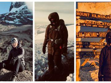 Garbiñe Muguruza durante su ascenso al Kilimanjaro