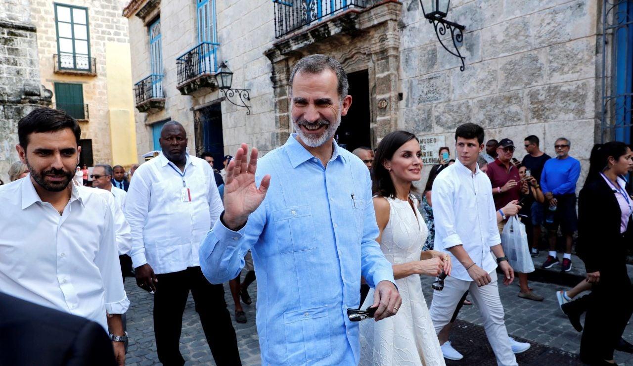 Los reyes de España en su visita a Cuba